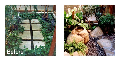 Japanese Courtyard Garden before and after picture